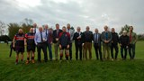 Former Club Captain's Line-up at Reunion Day