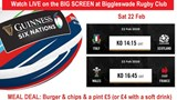SIx Nations Watch on the Big Screen poster