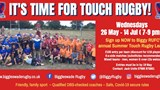 Promo poster for Touch Rugby tournament